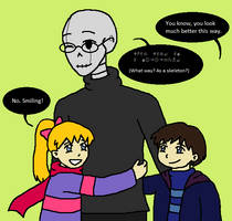 Once Upon A Handplate: Gaster and the twins by MissJulyFarraday
