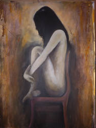 The girl on the red chair by faxstaff