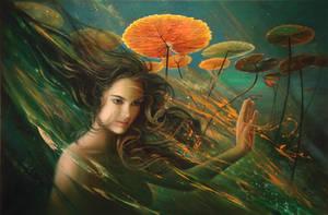 Nimue - Lady Of The Lake by Raipun