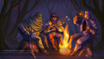 Bonfire by Mokolat-Illustr