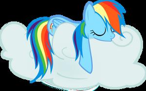 Rainbow Dash Snoozing Away by EMedina13