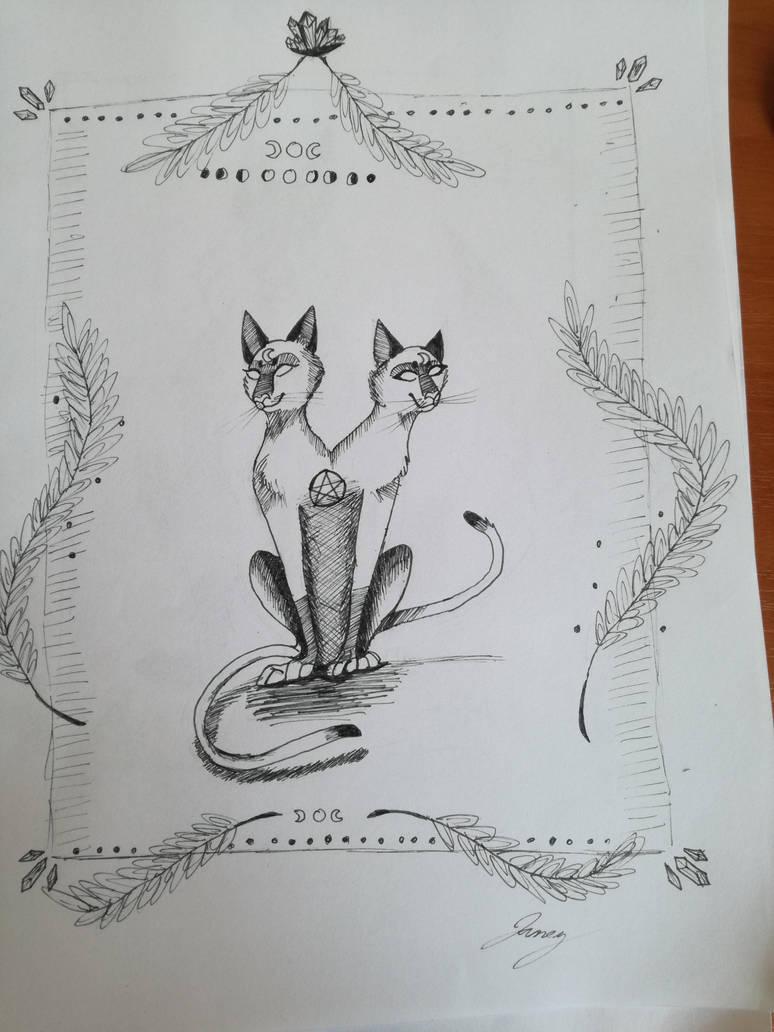 The siamese cat twins by LittleMafiaPrincess