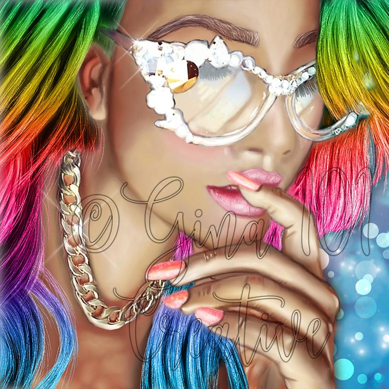 Alex Rainbow Hair Resized Copyright by Gina-101-Creative