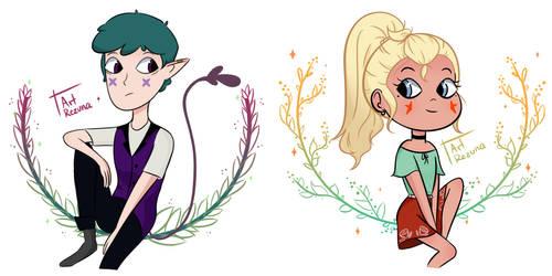 Percy and Twila by ArtRezuna