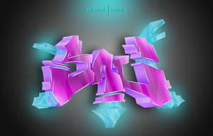 3D graffiti collab. by sukhamrit