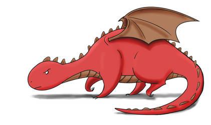 Big Red Dwagon by TheStatelyGentleman