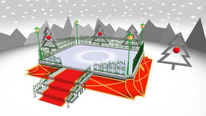 .::. MMD: DL TAIMUU.::. Ice rink stage by Ame-Yumi