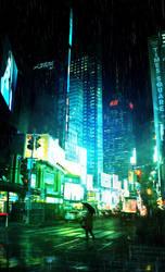 Rainy New York by Bunny7766