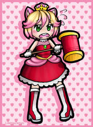 .: Amy Rose tries the Super Crown :. by LeenaZenyo