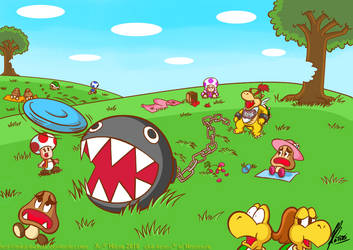 Chaos of Chain Chomp by MKDrawings
