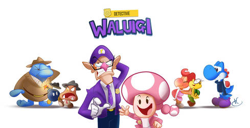 Commission: Detective Waluigi by MKDrawings