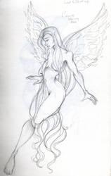 Holy Fairy Sketch by Sailor-Clover