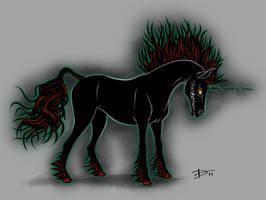 Dark Unicorn by HaloGhost