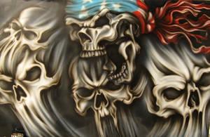Patriotic Skull 2 by airdiva
