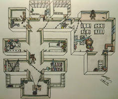 FNAF2 Map Layout - During Gameplay by Sega-HTF