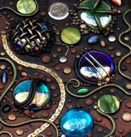 Tall Mosaic tile closeup by MandarinMoon
