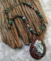Crazy Lace Agate Necklace Southwest Flavor by MandarinMoon