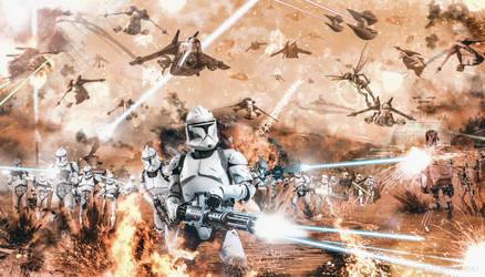 Starr Wars: Battle of Geonosis Frontline by TDSOD