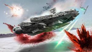 Star Wars: The Last Jedi - Millennium Falcon Crait by TDSOD