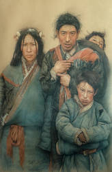 Tibetan family by william690c
