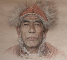 Portrait of tibetan sorcerer by william690c