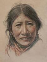 Portrait of Tibetan Aunt by william690c