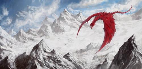 Red Dragon by digitalartaficianado