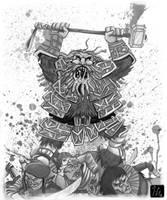 Raging Berserker by JoanGuardiet