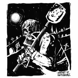 Graveyard shift by JoanGuardiet