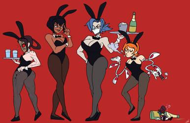 Skullgirls bunny service by HellOnEarth-III