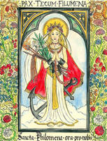 Saint Philomena Thaumaturga by Theophilia