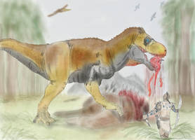 Tyrannosaurus - The Stomping Land by Dannyp96