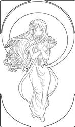Mucha Line Art by GinnyArt