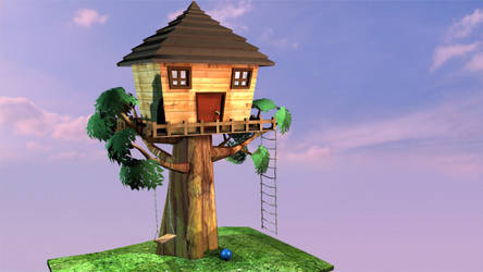Tree House by GinnyArt