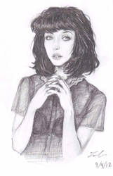 Kimbra Sketch by GinnyArt
