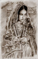 Indian girl by placebodrawings