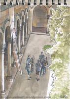 Apunte en la Universidad Central de Barcelona 2 by Korupo