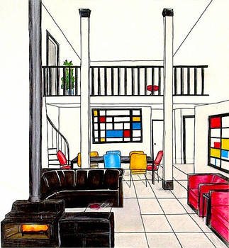Destijl interior by NoorR