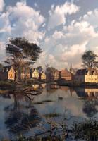 Village Sunset by DIGITAL-DOM