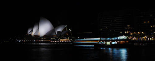 Sydney Opera House at night by AliBahulimud