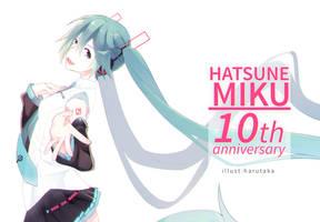 Hatsune Miku's 10th Anniversary by Harutaka