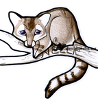 Chibi Ring-tail by art-paperfox