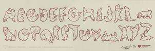 Dog Alphabet by art-paperfox