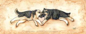 Shepherds of Love by art-paperfox