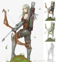 Female elf archer by aditya777