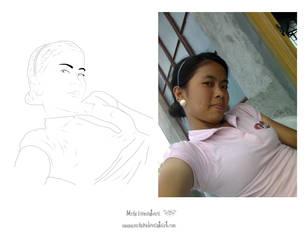a line art of myself by michi19