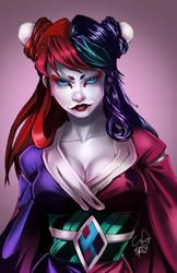 Geisha Harley Quinn by trav-mcdan