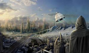 SciFi City by Joseph-C-Knight