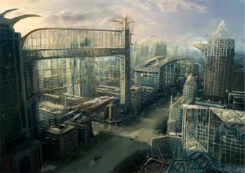 Glass Prison Sci fi city by Joseph-C-Knight
