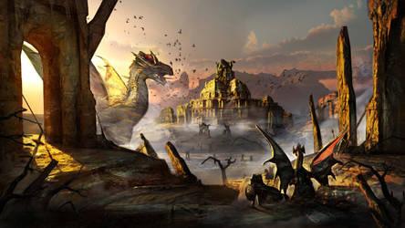 Dragons Desert by Joseph-C-Knight